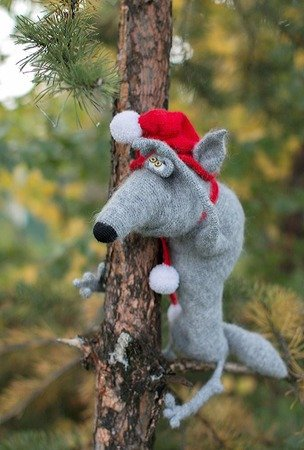 192 Crochet Pattern - Arnold the Wolf - Amigurumi toy PDF file by Pertseva CP