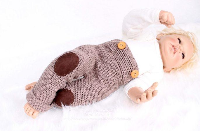 Häkelanleitung: Babyhose \