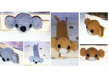 2 patterns Bookmark monkey   koala!!! PDF english-deutsch
