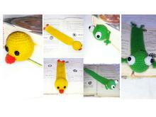 2 patterns Book Marker chick   frog!!! PDF englisg-deutch