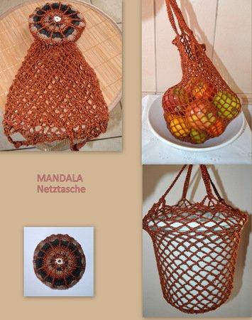 Anleitung Einkaufsnetz Mandala Mit Doppelboden
