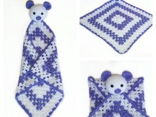 pattern baby blanket bear PDF english-deutsch-dutch