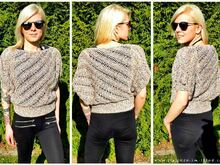 Crochet Pattern for summer sweater / sweater in all sizes | #HELIX #1 crocheted across