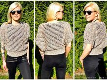 Crochet Pattern for summer sweater / sweater in all sizes | #HELIX crocheted across