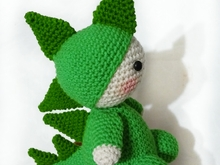 Crochet pattern of Billy, the dragon PDF english-deutsch