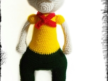 crochet pattern toys Stuart PDF english-deutsch