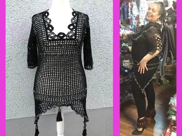 Tunika Häkeln Kleid Damenoberteil