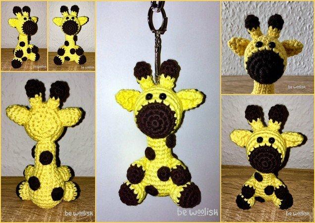 Giraffe Häkeln Kleiner Schlüsselanhänger