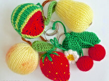 113 Knitting Pattern - Fruits and Berries - Amigurumi PDF file by Zabelina CP
