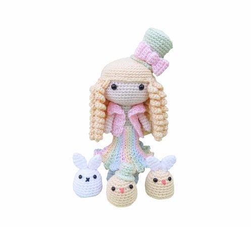 Frühlings-Puppe Amigurumi Häkelanleitung