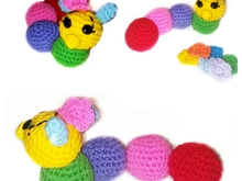 Crochet pattern for worm PDF english-deutsch-dutch