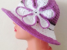 Crochet Pattern Baby to adult summer hat Vio1