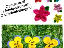 2 flower crochet patterns !!! PDF english-deutsch-dutch