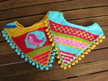Baby Bib - Neckerchief - Knitting pattern - Bandana