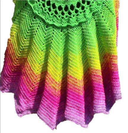Crochet Pattern Circular Vest Lotus