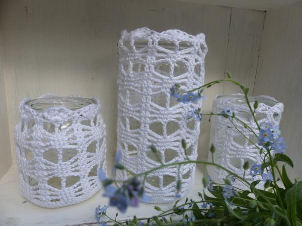 Häkelanleitung Windlicht / Vase