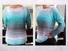 "crochet pattern sweater ""Lisa"", size 34-48"