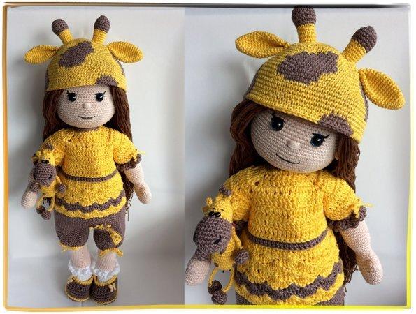 Puppe Häkeln Giraffen Outfit Amigurumi
