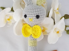 "Crochet Pattern Stick Rattle ""Fritz"""