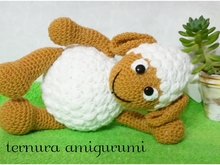 Crochet pattern of sheep lamb PDF english-deutsch-dutch