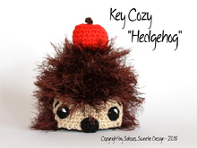 Crochet instruction E-Book key cozy Hedgehog #0023