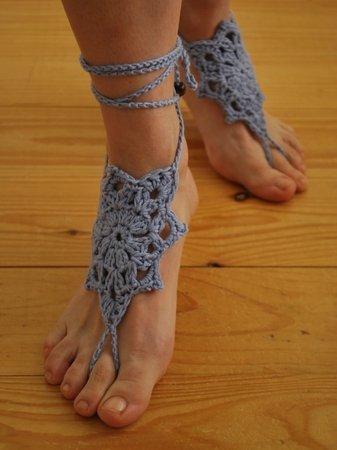 Häkelanleitung Barfuß-Sandalen Starflower - nicht nur für Hippies