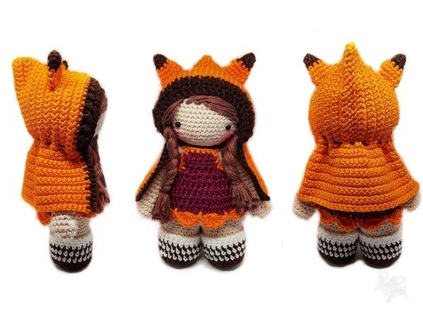 Puppenkleidung Häkeln Fuchskostüm Häkeln