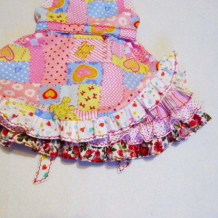 Dress frills girls toddler, baby girl's PDF sewing pattern, upper and lower skirt, to fit 1 to 9 years.