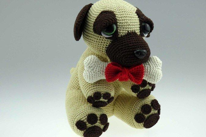 Amigurumi Anleitung Hund : Häkelanleitung schlüsselanhänger hund wolligurumi