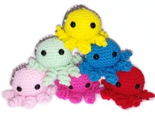 Crochet mini octopus pattern amigurumi PDF english-deutsch-dutch