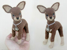 059 Crochet Pattern - Toy Terrier dog - PDF file Amigurumi by Chirkova CP