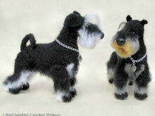 101 Crochet Pattern -  Miniature Schnauzer dog with wire frame - Amigurumi PDF file by Chirkova CP