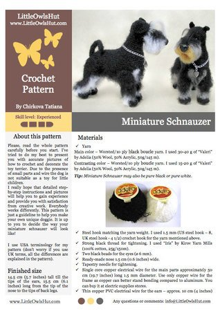 Ravelry: Mini Pets - Tiny Cat and Dog Amigurumi pattern by Lucy Collin | 450x318
