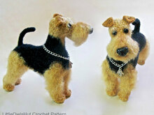 102 Crochet Pattern - Welsh Terrier dog with wire frame - Amigurumi PDF file by Chirkova CP