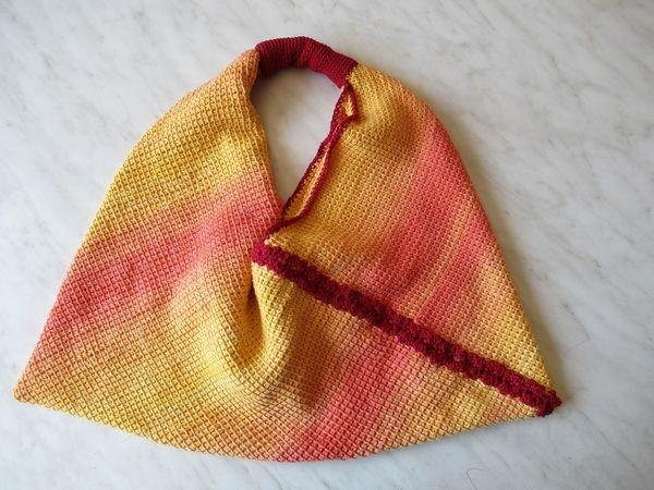 Origami Tasche Tunesisch Gehäkelt