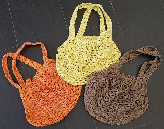 Tasche häkeln / Netzbeutel / Handtasche