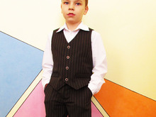 Waistcoat for boy, vest PDF sewing pattern, children PDF sewing patterns. Sizes: 3, 4, 5, 6, 7, 8, 9, 10 to fit  3 to 10 years old.