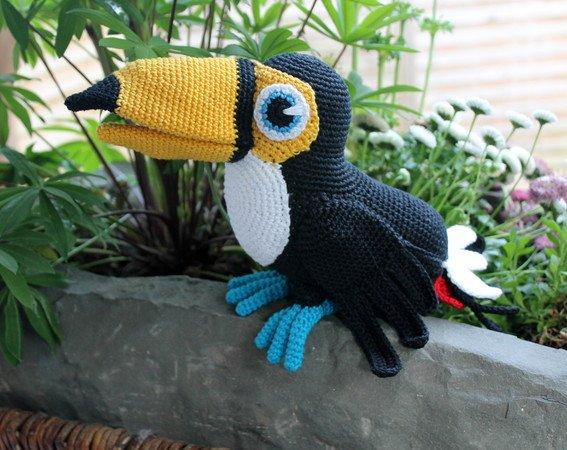 Vogel Häkeln Tukan Häkeln Tiere Diy