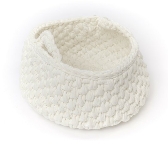 Körbe mit Muster aus Textilgarn häkeln