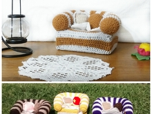 crochet pattern Armchair for tissue box PDF english- deutsch- dutch