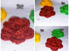 Flower crochet pattern rose, roses PDF english- deutsch-dutch