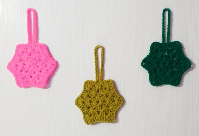 Crochet star hanging pattern PDF english-deutsch-dutch