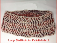 Loop Blattlaub - Relief-Patent - mit 2 Knäuel Woolly Hugs SHEEP