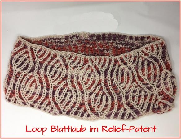 Loop stricken/Blattlaub-Muster//Relief-Patent