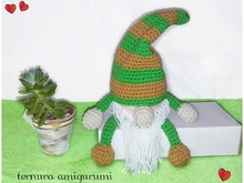 crochet pattern Gnome PDF english- deutsch-dutch