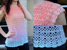 "crochet pattern shirt ""Mary"", suitable for beginners"