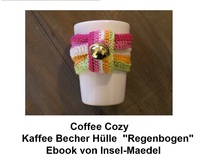 Coffee Cozy Regenbogen