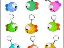 crochet pattern  Fish keychain PDF english-deutsch-dutch Ternura Amigurumi