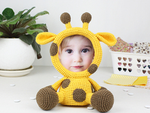 Crochet Pattern of Photo Frame Giraffe