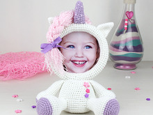 Crochet Pattern of Photo Frame Unicorn